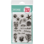 """Avery Elle Clear Stamp Set 4""""X6""""-The Reef"""