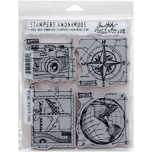 Tim holtz cling stamps 7x85 travel blueprint staples httpsstaples 3ps7is malvernweather Choice Image