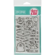 """Avery Elle Clear Stamp Set 4""""X6""""-Monsters"""