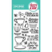 """Avery Elle Clear Stamp Set 4""""X6""""-Tea Time"""