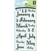 "Inkadinkado Clear Stamps 4""X8""-Months & Days"