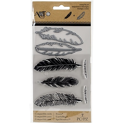 Art-C Stamp & Die Set-Large Feathers