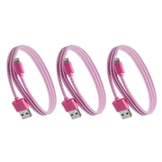 Purtech Apple MFI Certified Lightning Cable - 10 Feet, Pink & White (3XIP5-EX-BRDPKW)