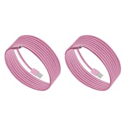 Purtech Apple MFI Certified Lightning Cable -6.6 Feet, Pink (2XIP5-2M-PK)