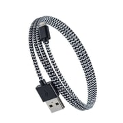 Purtech Apple MFI Certified Lightning Cable - 10 Feet, Black & White (IP5-EX-BRD-BKW)