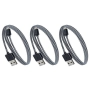 Purtech Apple MFI Certified Lightning Cable - 3.3 Feet, Black & White (3XIP5-1MBRDBKW)