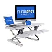 "Flexispot M4W 41"" Corner Standing Desk, MFD Desktop and Metal Base"