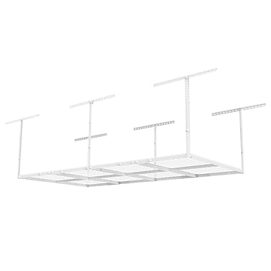 Fleximounts Overhead Garage Rack Height Adjustable White 4'x8' (GR48)