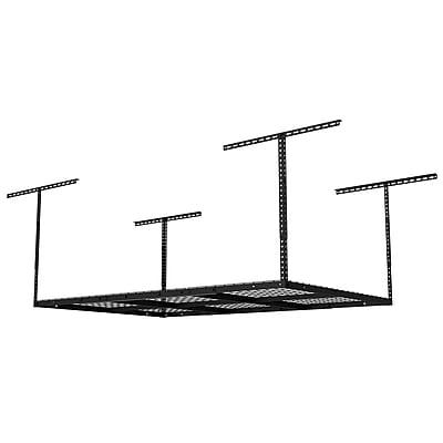 Fleximounts Overhead Garage Rack Height Adjustable Black 4'x6' (GR46B)
