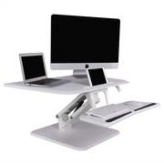 "Flexispot F3MW 32"" Height Adjustable Standing Desk, MFD Desktop and Metal Base"