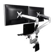 """Loctek D7TP 10""""-27"""" Monitor and 10.1-17.3 Notebook Triple Monitor Laptop Stand"""