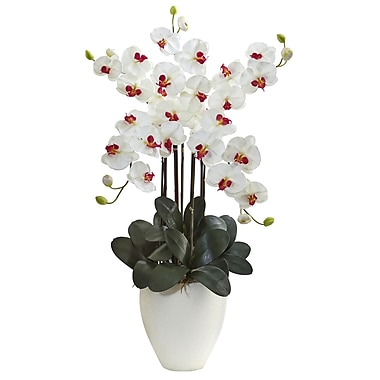 Nearly Natural Giant Phalaenopsis Orchid Arrangement (1464-WH)