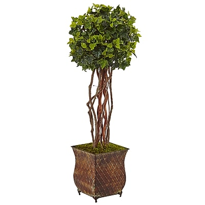 "Nearly Natural 30"" English Ivy Tree in Planter UV Resistant (Indoor/Outdoor) (5838) 24167936"