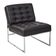 "Ave Six Anthony 26"" Wide Chair with Chrome Base and Black Faux Leather Fabric (ATH51-B18)"