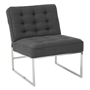 "Ave Six Anthony 26"" Wide Chair with Chrome Base and Klein Charcoal Fabric (ATH51-K26)"