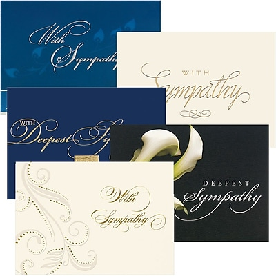 JAM Paper® Blank Sympathy Card Set, Sympathy Assortment, 25/pack (526AOA002WB)