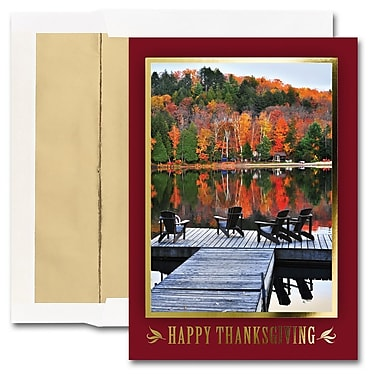 JAM Paper® Blank Thanksgiving Card Set, Thanksgiving Quiet, 25/pack (526M1551WB)