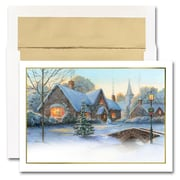 JAM Paper Blank Holiday Christmas Card Set, Yuletide Glow, 25/Pack (526M1510WB)