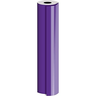 JAM Paper® Industrial Size Bulk Wrapping Paper Rolls, Matte Purple, 30