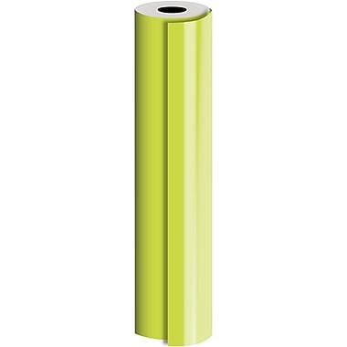 JAM Paper® Industrial Size Bulk Wrapping Paper Rolls, Matte Lime, 30