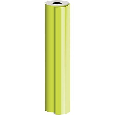 JAM Paper® Industrial Size Bulk Wrapping Paper Rolls, Matte Lime, 1/2 Ream (1042.5 Sq. Ft.), Sold Individually (165J94130417)