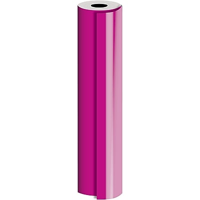 JAM Paper® Industrial Size Bulk Wrapping Paper Rolls, Matte Magenta, 1/4 Ream (416 Sq. Ft.), Sold Individually (165J91024208)