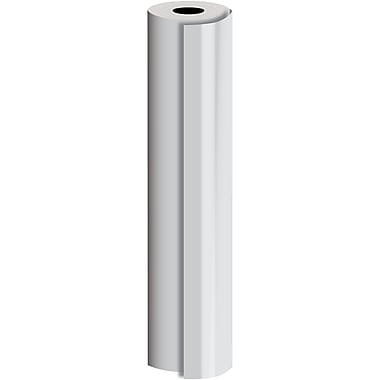 JAM Paper® Industrial Size Bulk Wrapping Paper Rolls, Matte Silver, 30