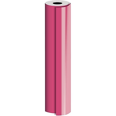 JAM Paper® Industrial Size Bulk Wrapping Paper Rolls, Matte Neon Pink, 24