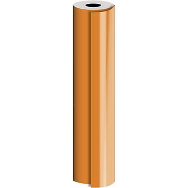 JAM Paper® Industrial Size Bulk Wrapping Paper Rolls, Matte Orange, 24