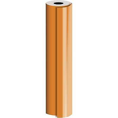 JAM Paper® Industrial Size Bulk Wrapping Paper Rolls, Matte Orange, 1/2 Ream (1042.5 Sq. Ft.), Sold Individually (165J92730417)