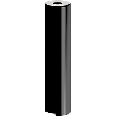 JAM Paper® Industrial Size Bulk Wrapping Paper Rolls, Matte Black, 1/2 Ream (1042.5 Sq. Ft.), Sold Individually (165J92130417)