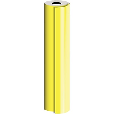 JAM Paper® Industrial Size Bulk Wrapping Paper Rolls, Yellow, 1/2 Ream (1042.5 Sq. Ft.), Sold Individually (165J91230417)