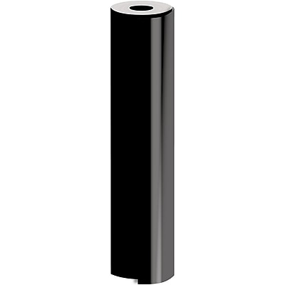 JAM Paper® Industrial Size Bulk Wrapping Paper Rolls, Matte Black, 1/2 Ream (834 Sq. Ft.), Sold Individually (165J92124417)