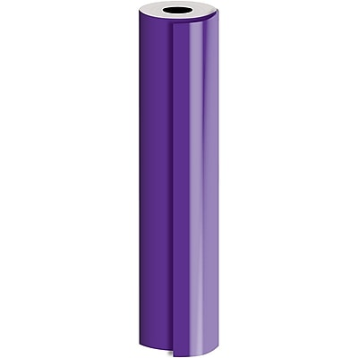 JAM Paper® Industrial Size Bulk Wrapping Paper Rolls, Matte Purple, 1/4 Ream (520 Sq. Ft.), Sold Individually (165J90330208)