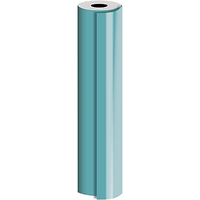 JAM Paper® Industrial Size Bulk Wrapping Paper Rolls, Matte Turquoise, (2082.5 Sq. Ft.), Sold Individually (165J93930833)