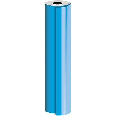 JAM Paper® Industrial Size Bulk Wrapping Paper Rolls, Matte Blue, 24