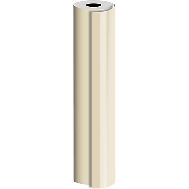 JAM Paper® Industrial Size Bulk Wrapping Paper Rolls, Matte Champagne, 1/2 Ream (834 Sq. Ft.), Sold Individually (165J92324417)