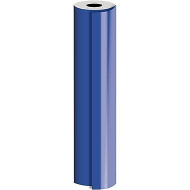 JAM Paper® Industrial Size Bulk Wrapping Paper Rolls, Royal Blue, 30