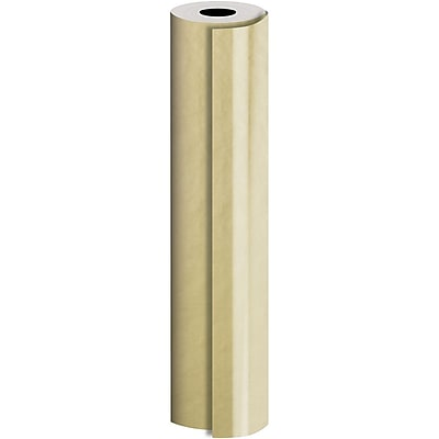 JAM Paper® Industrial Size Bulk Wrapping Paper Rolls, Matte Gold, 1/2 Ream (1042.5 Sq. Ft.), Sold Individually (165J91530417)