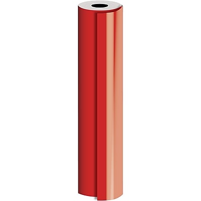 JAM Paper® Industrial Size Bulk Wrapping Paper Rolls, Matte Red, 1/4 Ream (416 Sq. Ft.), Sold Individually (165J90924208)