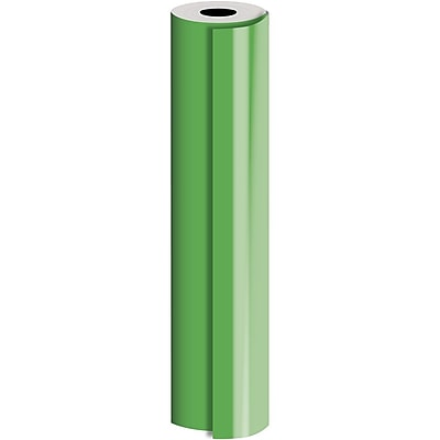 JAM Paper® Industrial Size Bulk Wrapping Paper Rolls, Matte Green, 1/4 Ream (520 Sq. Ft.), Sold Individually (165J91330208)