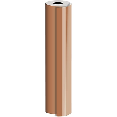 JAM Paper® Industrial Size Bulk Wrapping Paper Rolls, Matte Copper, 1/4 Ream (520 Sq. Ft.), Sold Individually (165J95530208)