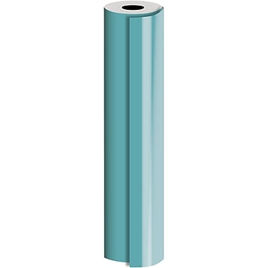 JAM Paper® Industrial Size Bulk Wrapping Paper Rolls, Matte Turquoise, 30