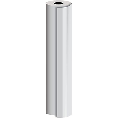 JAM Paper® Industrial Size Bulk Wrapping Paper Rolls, Matte Silver, 1/2 Ream (1042.5 Sq. Ft.), Sold Individually (165J91430417)