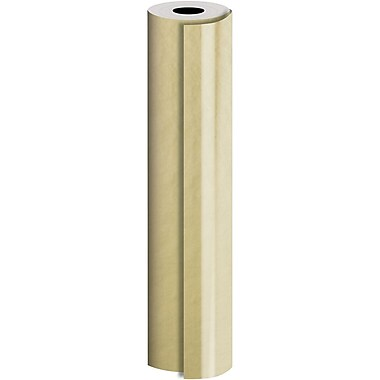 JAM Paper® Industrial Size Bulk Wrapping Paper Rolls, Matte Gold, 24