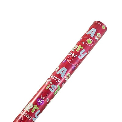 JAM Paper Christmas Wrapping Paper, 25 Sq.