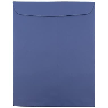 JAM Paper® 10 x 13 Open End Catalog Envelopes with Gum Closure, Presidential Blue, 50/Pack