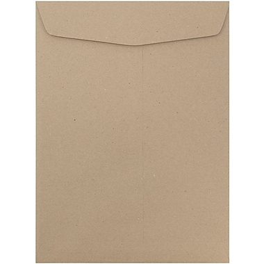 JAM Paper® 10 x 13 Open End Catalog Envelopes with Gum Closure, Recycled Brown Kraft, 50/Pack