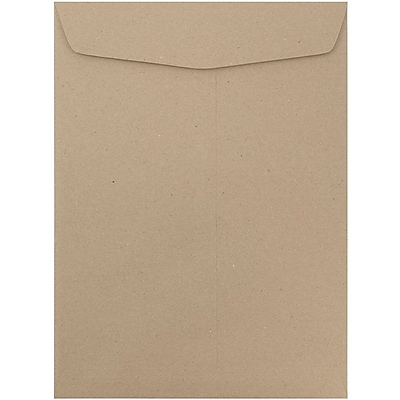 JAM Paper® 10 x 13 Open End Catalog Envelopes with Gum Closure, Recycled Brown Kraft, 25/pack (6315603a)