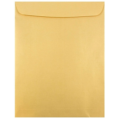 JAM Paper® 10 x 13 Open End Catalog Envelopes with Gum Closure, Gold Stardream Metallic, 50/pack (v018325i)